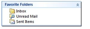 Favorite Folders in Outlook